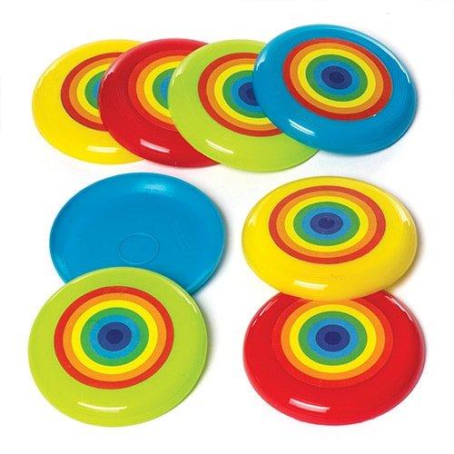 Baker Ross Discos voladores con Arcoíris (Paquete de 8) para Bolsas de cotillón Infantiles