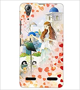 PrintDhaba Princess and Friends D-2886 Back Case Cover for LENOVO A6000 (Multi-Coloured)