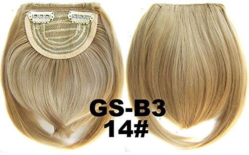 # 14 100% fibre synthétique haute température Clip dans/sur cheveux avant frange frange cheveux
