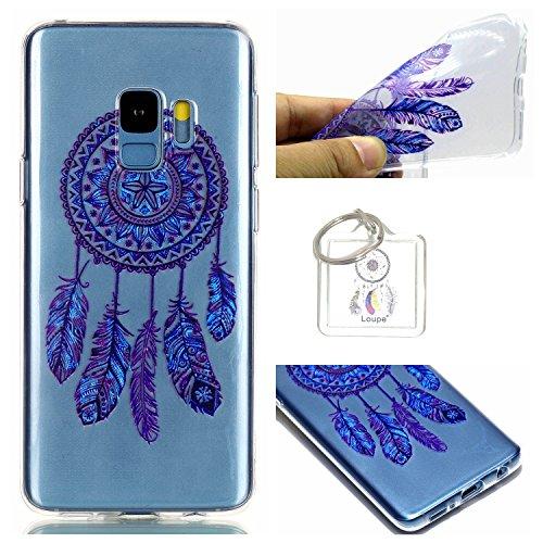 Hülle Galaxy S9 (5,8 Zoll) Hülle, Samsung Galaxy S9 (5,8 Zoll) Hülle TPU Case Schutzhülle Silikon Case,Niedliche Cartoon Malerei Durchsichtige Rückschale und TPU Bumper Handy Tasche Case Cover Etui für Samsung Galaxy S9 (5,8 Zoll) + Schlüsselanhänger ( I ) (10)