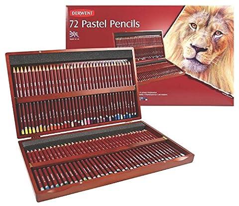 Derwent Crayons Pastels en Bois (Boîte de 72)
