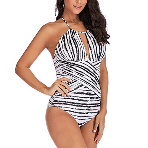 LILIGOD Tankini Swimsuit Beachwear Jumpsuit Playsuit Beach Romper Elegant Lace Up Waist Flowers Padded Swimwear Sexy Print Waterfall Bikini Oversize Badeanzug - Wide Sleeve Print Kleid