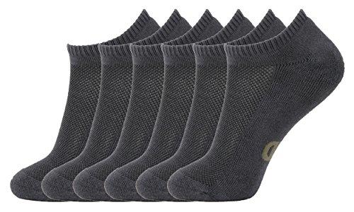 MD Ultra Weiche Sport Bambus Socken Damen und Herren Nahtlosen Zehen Lässig Rutschfest 6 Paaren GRY - Das Für Männer-schwarz über Kalb-socken
