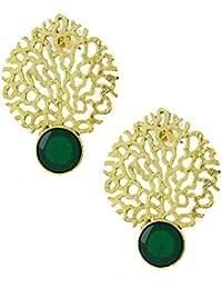 The Jewelbox Gold Jaali Filigree Earring For Women