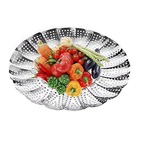 Nanan Premium Légumes Panier vapeur, 14- 23,6cm -100% inoxydable Steel- Instant Pot Autocuiseur Safe?ajuster à différentes tailles de pot de fleurs