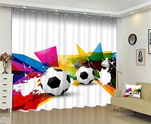 Maoyym2 tende a drappeggio tende finestra da calcio lussoblackout 3d tende per soggiorno camerada letto cortinas per bambini