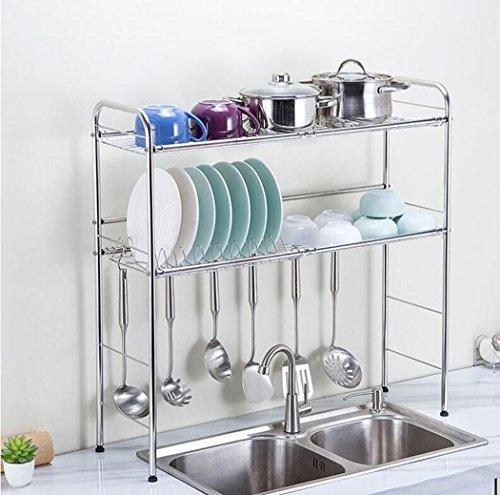 ZXMXY 304 Edelstahl Multifunktionale Küche Doppel Regal
