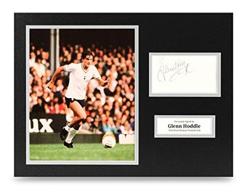 Glenn-Hoddle-Signed-16×12-Photo-Display-Tottenham-Hotspur-Autograph-Memorabilia