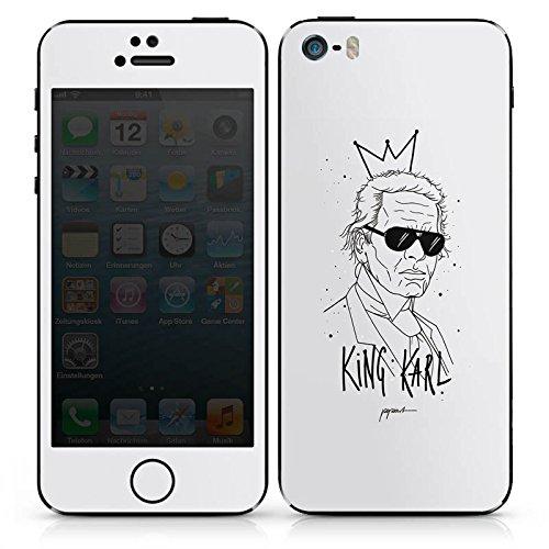 Apple iPhone SE Case Skin Sticker aus Vinyl-Folie Aufkleber Karl Lagerfeld Zeichnung Mode DesignSkins® glänzend