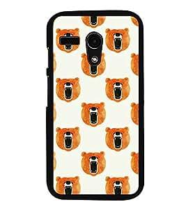HiFi High Glossy Designer Phone Back Case Cover Motorola Moto G Turbo Edition :: Virat FanBox Moto G Turbo Virat Kohli ( Bear Face Class Pattern Design )