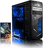 VIBOX Precision 6 Desktop Gaming PC - with WarThunder Game Bundle (4.0GHz AMD FX Quad Core Processor, Nvidia Geforce GT 730 Graphics Card, 1TB Hard Drive, 8GB RAM, Blue Gamer Case, No Operating System)