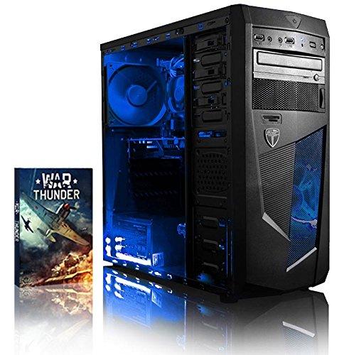 VIBOX PRECISION 6 GAMING PC - 4 0GHZ CPU 4-CORE AMD  GPUGT710  PRESUPUESTO  ORDENADOR DE SOBREMESA PARA OFICINA GAMING VALE DE JUEGO  CON UNIDAD CENTRAL  ILUMINACIàNINTERNA AZUL (3 8GHZ (4 0GHZ TURBO) PROCESADOR CPU QUAD 4-CORE AMD FX 4300  TARJETA GRAFICADEDICADA DE 1GBNVIDIA GEFORCEGT710GPU  8 GB MEMORIA RAM DE DDR3  VELOCIDAD DE RAM: 1600MHZ  1TB(1000GB)SATAIII7200 RPMDISCODUROHDD  FUENTE DE ALIMENTACIàN DE 85 +PSU 400W  CAJAMICROATXAVPMAMBA  NINGUN SISTEMA OPERATIVO)