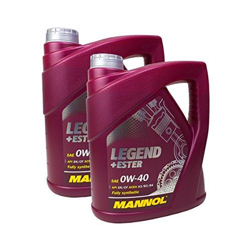 Preisvergleich Produktbild 2x MANNOL MN7901-4 Legend+Ester 0W-40 Motoröl API SN/CF 4L