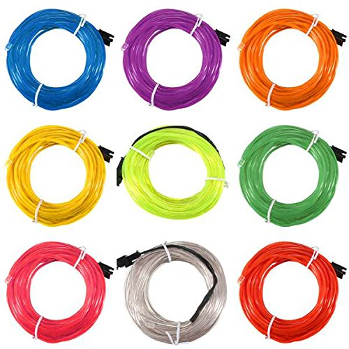 MASUNN 5 M Simple Couleur 5V USB Flexible Neon El Wire Lumière Dance Party Decor Lumière-Orange