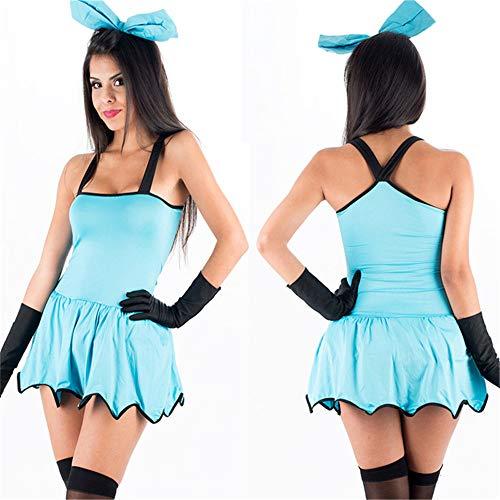 MELLRO Halloween-Kostüme Halloween Retro Phantasie Cosplay Kleid Outfit Uniform Kostüm Frauen Sexy Klassische Sommer Casual Mini Kleid Thema Parteien (Naughty & Nette Kostüm)