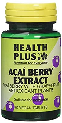 Health Plus Acai Berry Extract Weight Management And Antioxidant Plant Supplement - 60 Tablets by Health + Plus Ltd