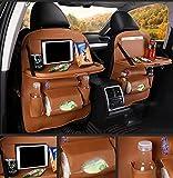 QXXZ Car Seat Seat Organizer, Para Baby Automotive Kick Mat Protector Mesa De Comedor Plegable Para...