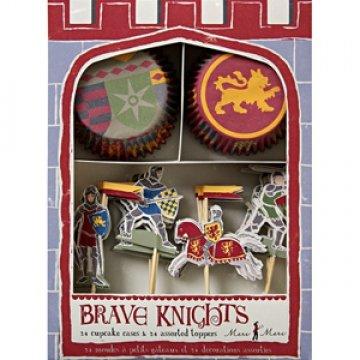 Ritterparty Cupcake- /Muffinset mit Dekopickern aus der Serie 'Brave Knights' von Meri Meri