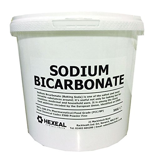 Hexeal SODIUM BICARBONATE of Soda   5KG BUCKET   100% BP/Food Grade   Bath, Baking, Cleaning