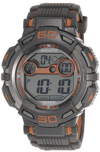 51kSeHhPouL - Sonata 77009PP03J Ocean Series II Digital Mens watch