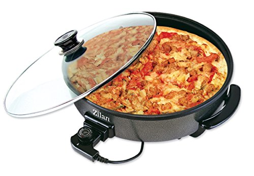 Pizza maker electric frying pan electric pan pizza pan grill pan skillet ALU Carbon Steel 1500 Watts Pizza Express multi pan Multicooker