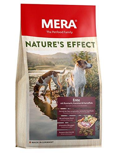 MERA NATURE\'S EFFECT, Getreidefreies Hundefutter, Premium Trockenfutter für Hunde mit Ente, Rosmarin, Karotten und Kartoffeln