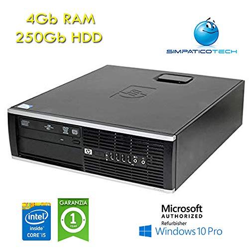 Simpaticotech PC HP Compaq 8200 Elite i5-2400 4Gb Ram 250Gb SFF Windows 10  Professional con licenza nuova Simpaticotech MAR