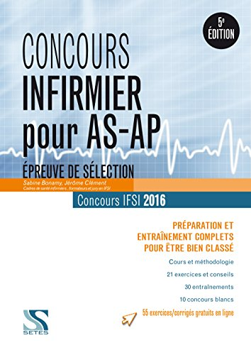 Concours infirmier pour AS/AP 2016 - Epreuve de slection