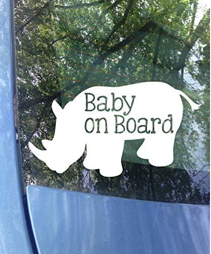 2 Packs Yilooom Baby on Board Window Decal Mom Decal Car Decal New Baby Baby on Board Sticker Safety Child on Board Van 4 inches