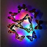 5/1/2/15 / 20pcs schöne Schmetterling LED Nachtlicht Farbwechsel Licht Lampe schöne Heimat dekorative Wand Nachtlichter 35 TB, 20pcs
