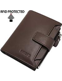 266649b5bbd Cartera Hombre Cuero RFID Bloqueo BTNEEU Billetera Piel Hombre con Bolsillo  de Moneda