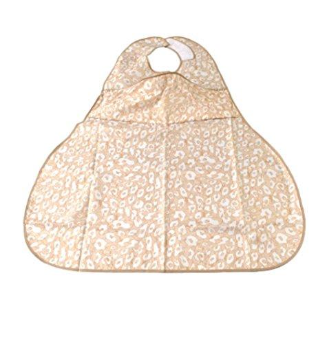 wexe.com MEYLEE Adult Bib Protector wasserdichte Unterlage - Verstellbare Größe, 77 × 68 cm, Khaki -
