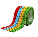 #2: Ekana Mart Lego Tape - Multicolor Pack Of Reusable Self Adhesive Block Tape Rolls For All Ages (4 Feet/Roll)