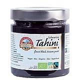 Tahini negro Bio 310g Orgánico, Pasta Crema hecho solo de Sésamo Ecologico integral con cáscara, crudo, para Hummus