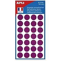 APLI-AGIPA 10075 Pastille Adhésive 15mm Pochette Lot de 168 Assorties