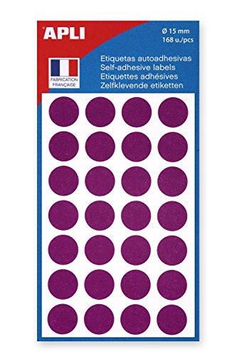 AGIPA Lot de 12 Sachets 168 pastilles de signalisation diam 15 mm Violet
