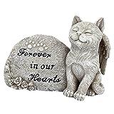 "Design Toscano Katzenfigur ""Forever in Our Hearts"", grau, 6,5 x 15 x 10 cm, QL593932"