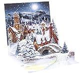 Pop Up 3D Weihnachten Karte PopShot Geschenk Winterdorf 13x13 cm