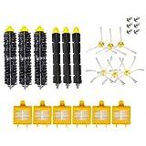 HELLOO HOME 3 Set di spazzole per Robot di spazzamento iRobot Accessori Serie 700 Spazzola Laterale Triangolare 3 Spazzola Laterale Esagonale 6 Rete filtrante HEpa