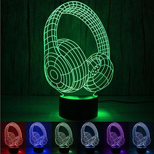 L@YC Bunte Steigung Lampe Erste coole Headset USB führte Nacht Licht Energie sparen Lampe Stromversorgung , as picture , A