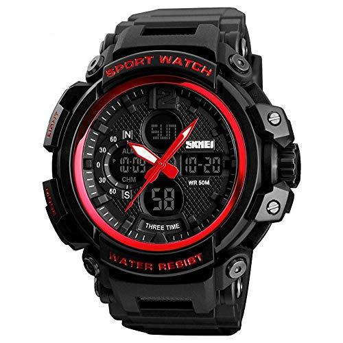 ChenHui wasserdichte Outdoorsport Geld DREI Mal Armbanduhr Herren Uhr (Mal-armbanduhr)