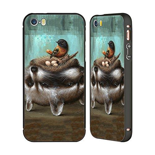 Ufficiale Jason Limon Riserva Rischiosa Al Contrario Nero Cover Contorno con Bumper in Alluminio per Apple iPhone 6 Plus / 6s Plus Nido Pericoloso