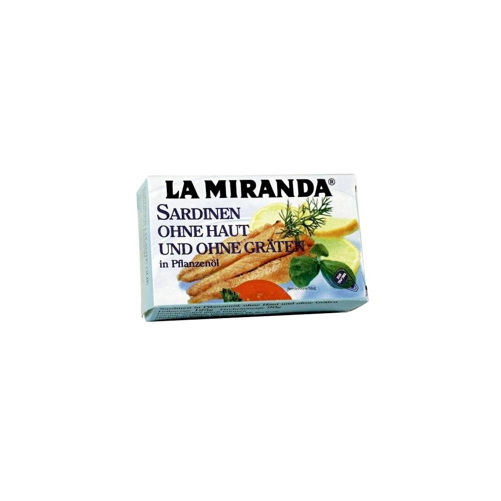 La Miranda Sardinenfilets In Sonnenblumenl Ohne Haut Und Ohne Grten 25er Pack 25 X 125 G Dose
