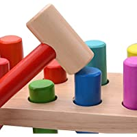 Jouets en Bois, Banc À Marteler, marteau jouet. Jouets d'éveil et 1er âge montessori enfant bebes et les petis