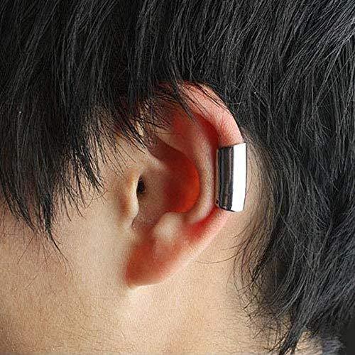 LilifenXCFDC Frauen-Ohrringe GFH Yt3 PCS Punk Style Lange Röhrenform Einfache Ohrclips for Frauen (Gold) (Farbe : Silver)