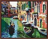 Painting-YC Malen nach Zahlen für Erwachsene Anfänger bis Fortgeschrittene - Spaß DIY Erwachsene Künste und Handwerksprojekte - Venedig 16×20 Zoll Rahmenlos