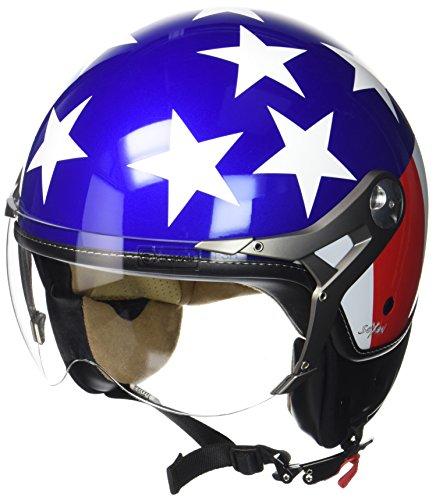 """SOXON® SP-325 \""""Usa\"""" · Jet-Helm · Motorrad-Helm Roller-Helm Scooter-Helm Bobber Mofa-Helm Chopper · ECE Visier Schnellverschluss Tasche XL (61-62cm)"""