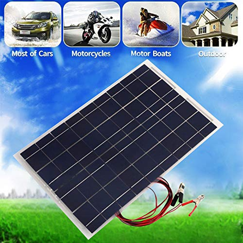 30 W Solar System Kit 12 V Solarpanel mit Controller 12 V 24 V Inverter Semi Flexible Solarbatterie für Auto Boot Notlicht -