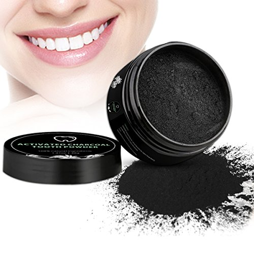 Aktivkohle Pulver Zähne, Zahnaufhellung Aktivkohle Kokosnuss, 100% Charcoal Teeth Whitening Natural from iFanze