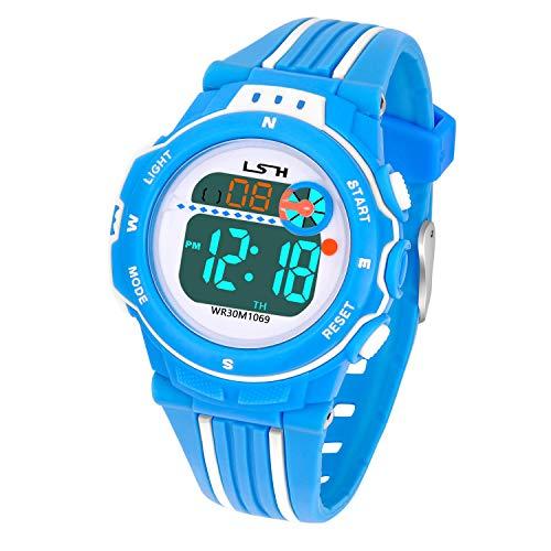 Reloj Digital para Niña Niño,Chicos Chicas Impermeable Deportes al Aire Libre LED Multifuncionales Relojes de Pulsera… 6